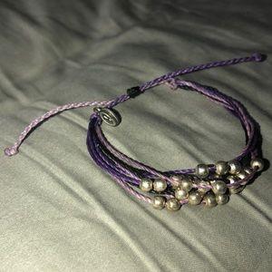 pura vida purple platinum bracelet
